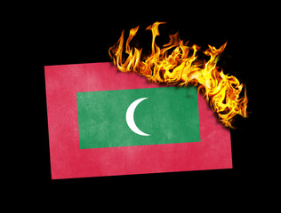 Flag burning - Maldives