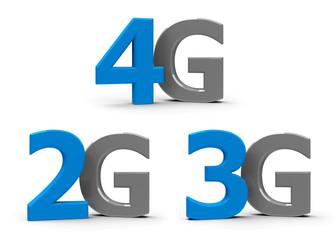 2G 3G 4G icons