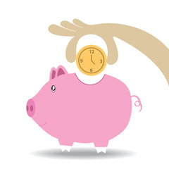 Piggy Bank save time or make time compare Vector ,eps10