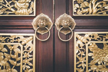 traditional Chinese style wooden door