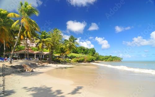 Plexiglas Caraïben Caribbean beach