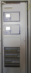 Command panel in modern electrical substation