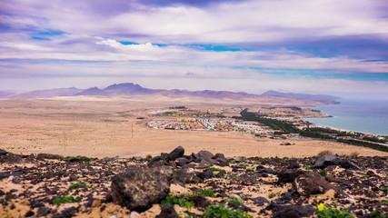 clouds over the island of Fuerteventura