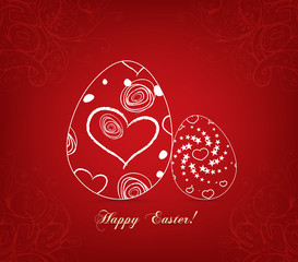 Floral easter egg sweet love