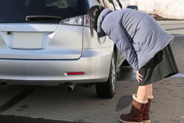 自動車の修理の後