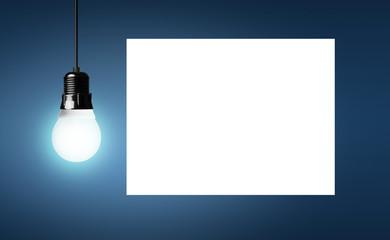 Energiesparlampe / Zettel