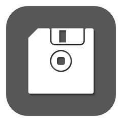 The floppy disk icon. Diskette symbol. Flat