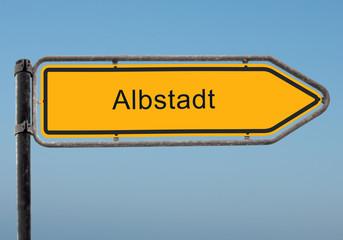 Strassenschild 35 - Albstadt