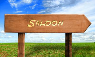 Strassenschild 30 - Saloon