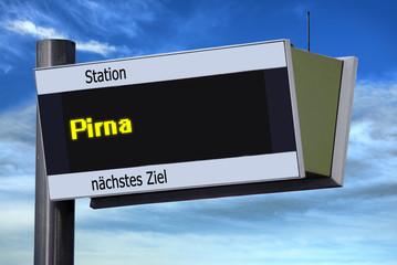 Anzeigetafel 6 - Pirna