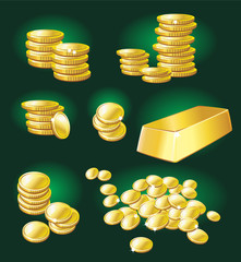 Gold coin and bullion