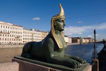 Egyptian bridge. Sphinx.
