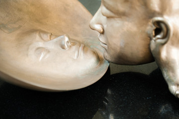 Head and face statue