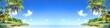 Leinwanddruck Bild - Tropical island