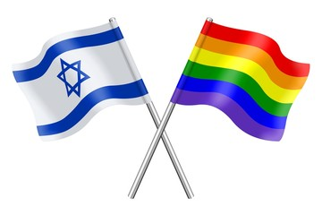 Flags: Israel and rainbow