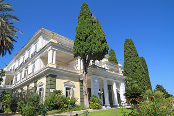 Achillion palace in Corfu, in Corfu - Greece