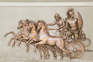 Achilles on chariot
