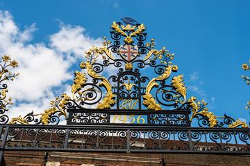 A golden gate in London