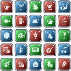 Food and drink button set