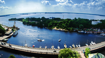 View of the Bay of Vyborg from the tower of the castle