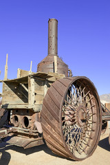 Vintage Steam engine which carried borax from Death Valley