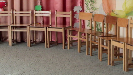 lot chair in the kindergarten