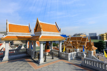 BANGKOK, THAILAND - December 15, 2014: Wat Traimit, Famous for i
