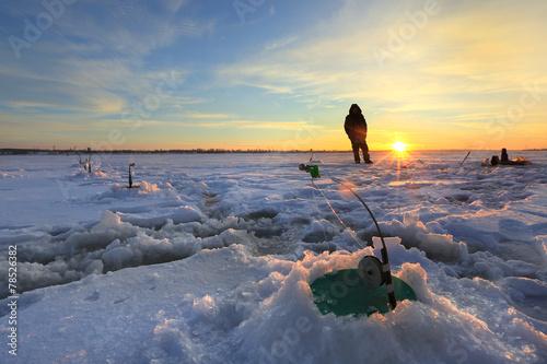 winter fishing - 78526382