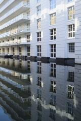 Modern waterside buildings