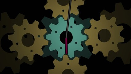 Cogwheels gear time clock background for VJ