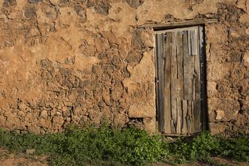 Old rustic wooden door  Fuerteventura  Canary Islands