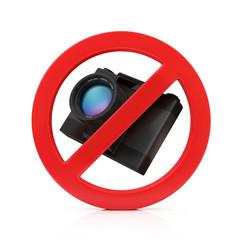No Photo Camera Sign isolated on white background