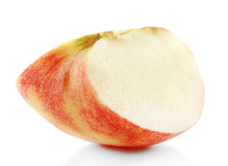 Cut apple isolated on white