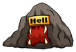 A bat in the hell idiom - 78529545