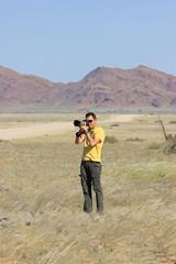 Photographer working outdoor