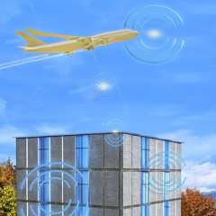 Fluglärm - 3D Render