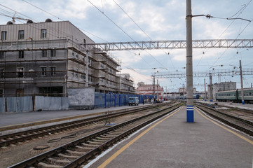 The train station in Yekaterinburg