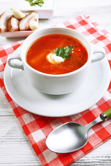 Ukrainian beetroot soup - borscht,