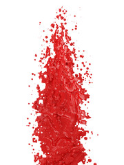 Red Paint Splash isolated on white background