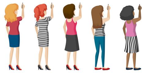 Faceless ladies