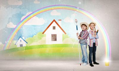 Colorful childhood