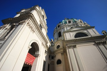 Vienna / Karlskirche Karl's church (close up)