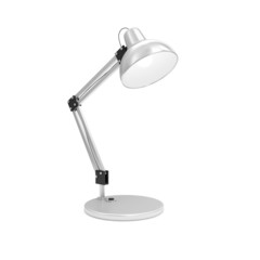 Metal Desk Lamp isolated on white background
