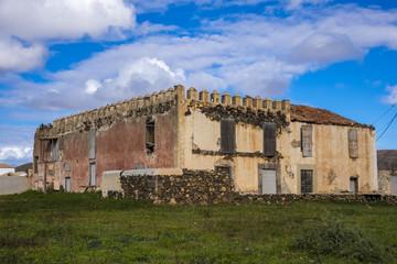 Ruin in La Oliva Fuerteventura  Canary Islands pain