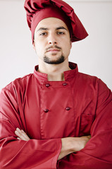 Chef portrait closeup image