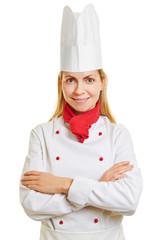 Frau macht Ausbildung zum Koch