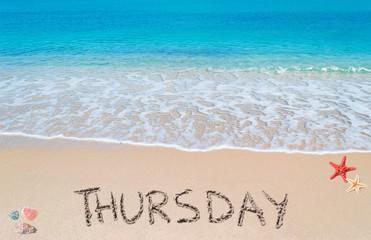 thursday on a tropical beach