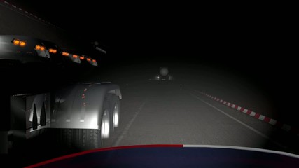Driving on a motorcycle at night