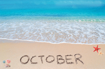october on a tropical beach