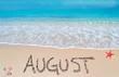 august on a tropical beach - 78533988